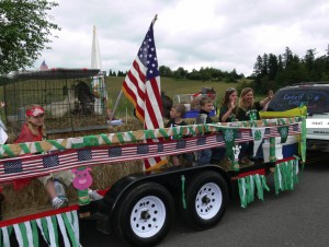 Corbett Critters 4H Club in the 4th of July Parade - All photos are © MSIS